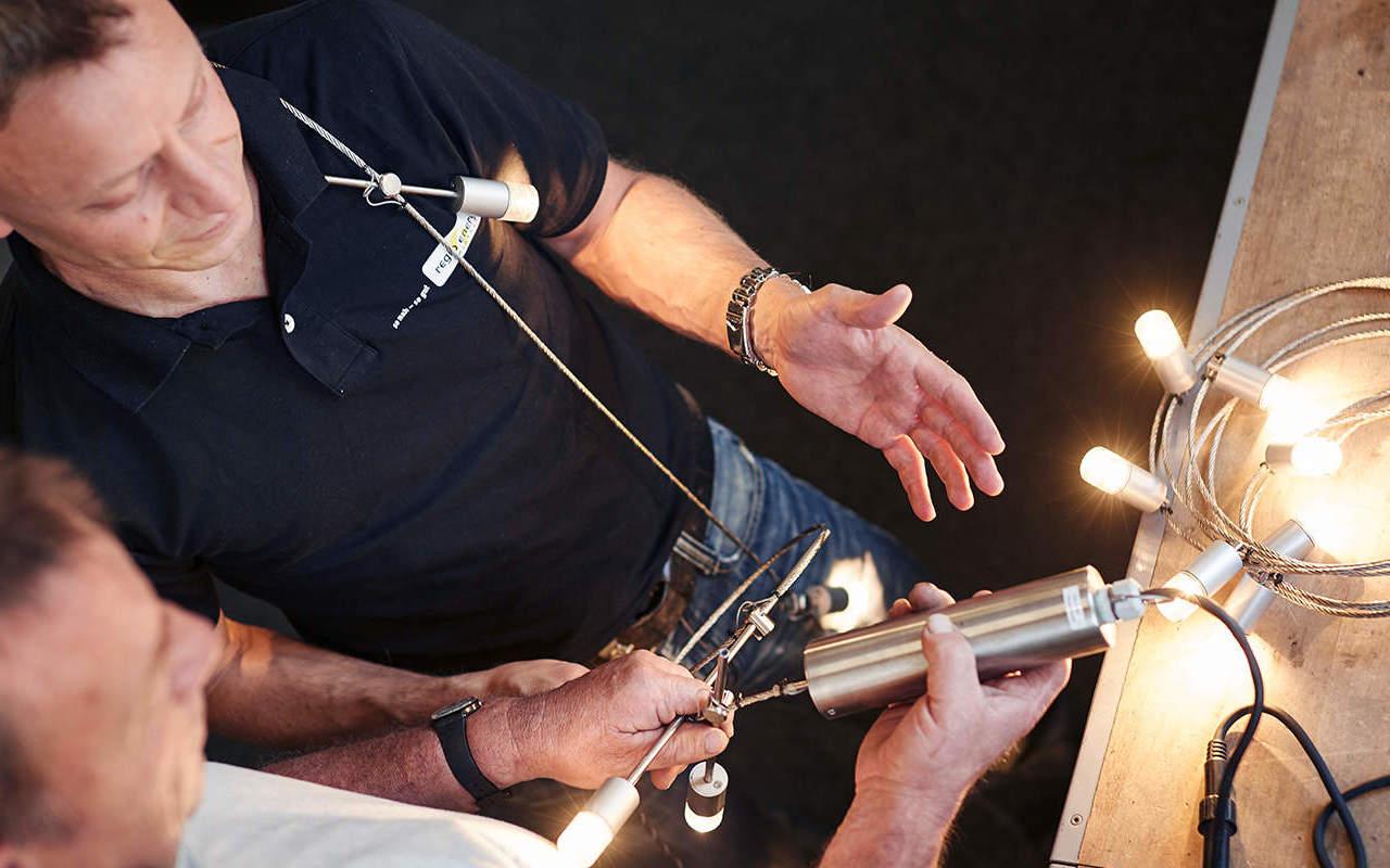 Konstruktion neue Weihnachtsbeleuchtung für die Stadt Solothurn