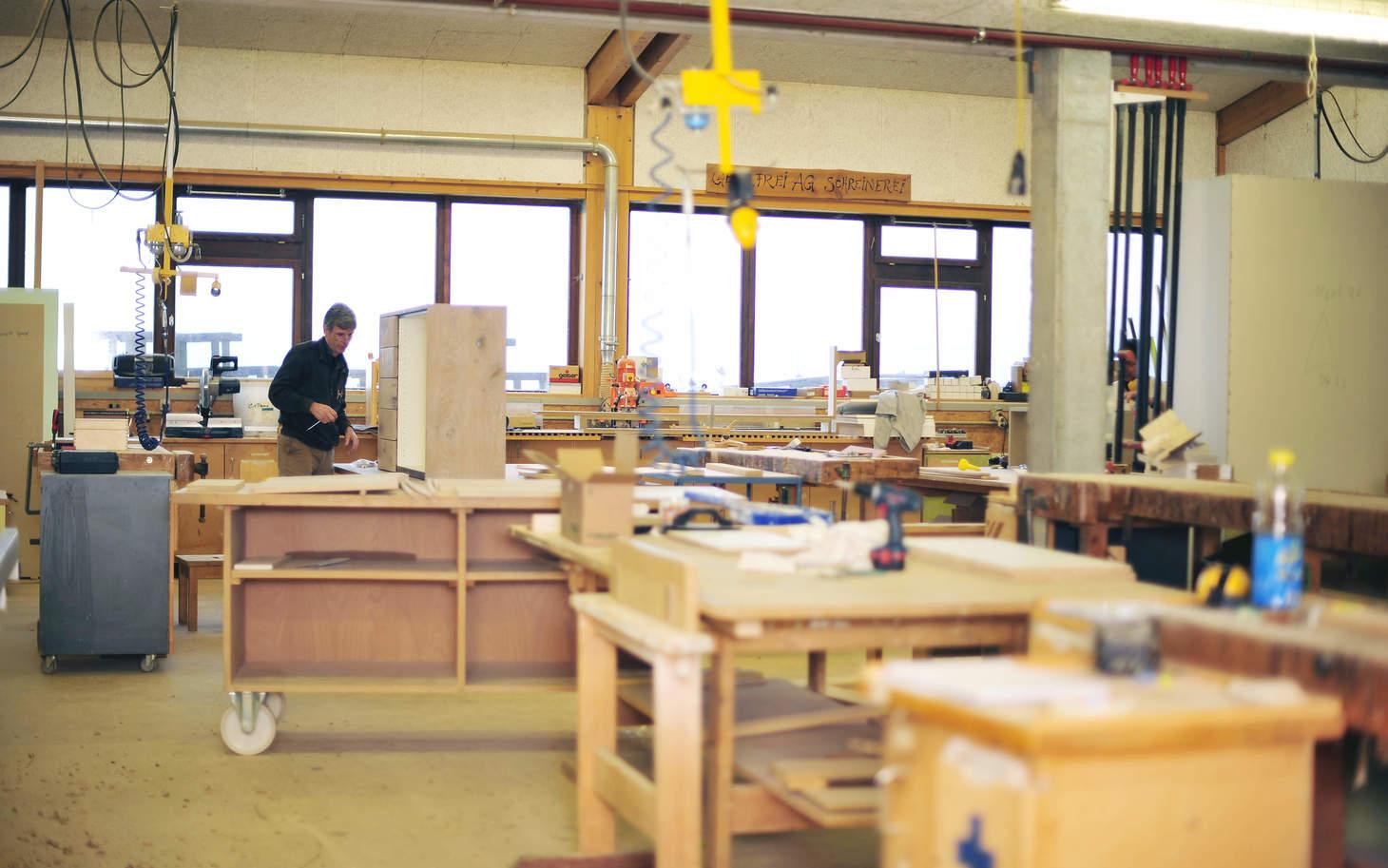 Werkstatt der Firma Gebrüder Frei