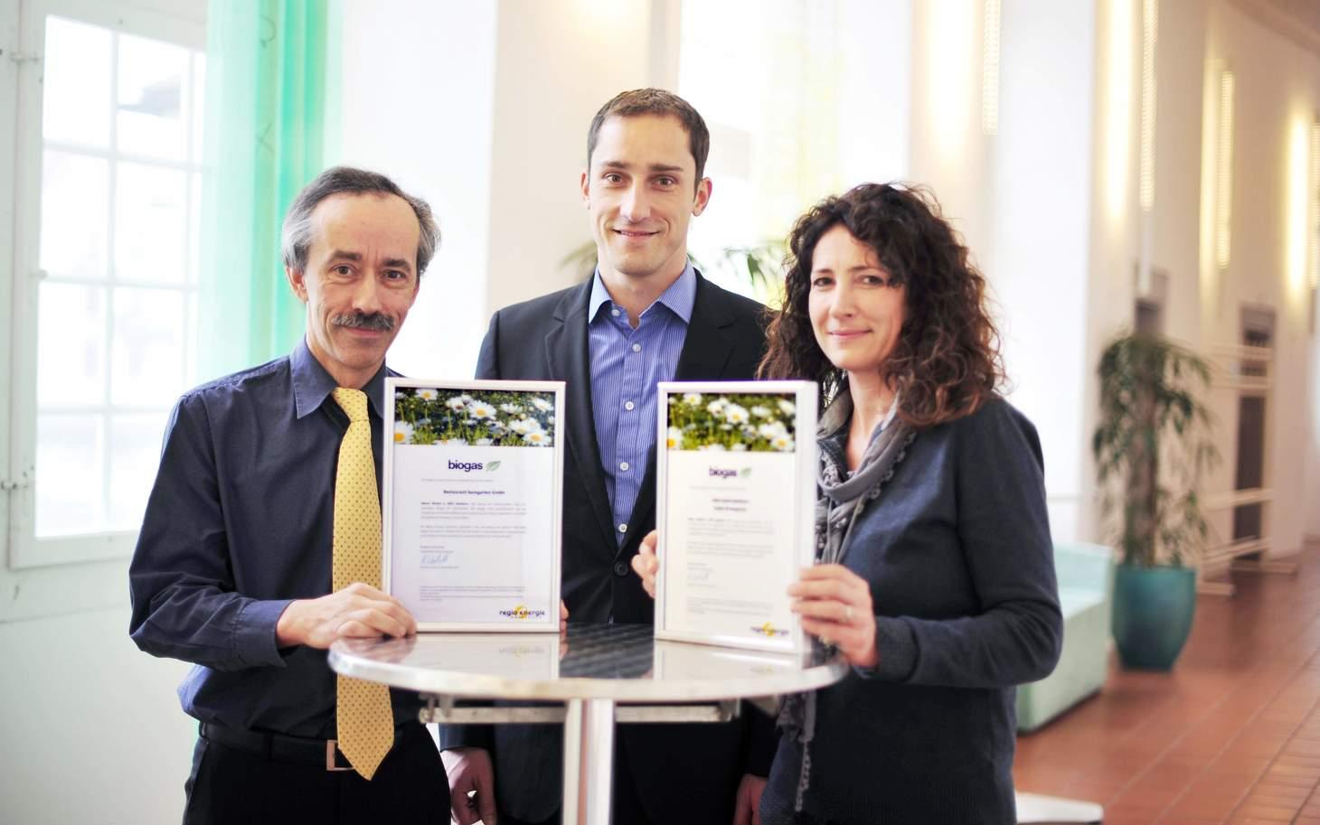 Mitarbeiter mit Biogas Zertifikat