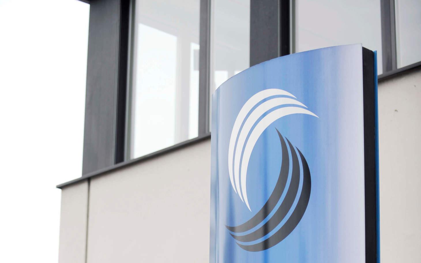Firmenbeschriftung der santésuisse Solothurn
