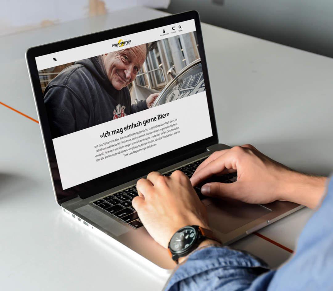 Blogbeitrag auf Tablet