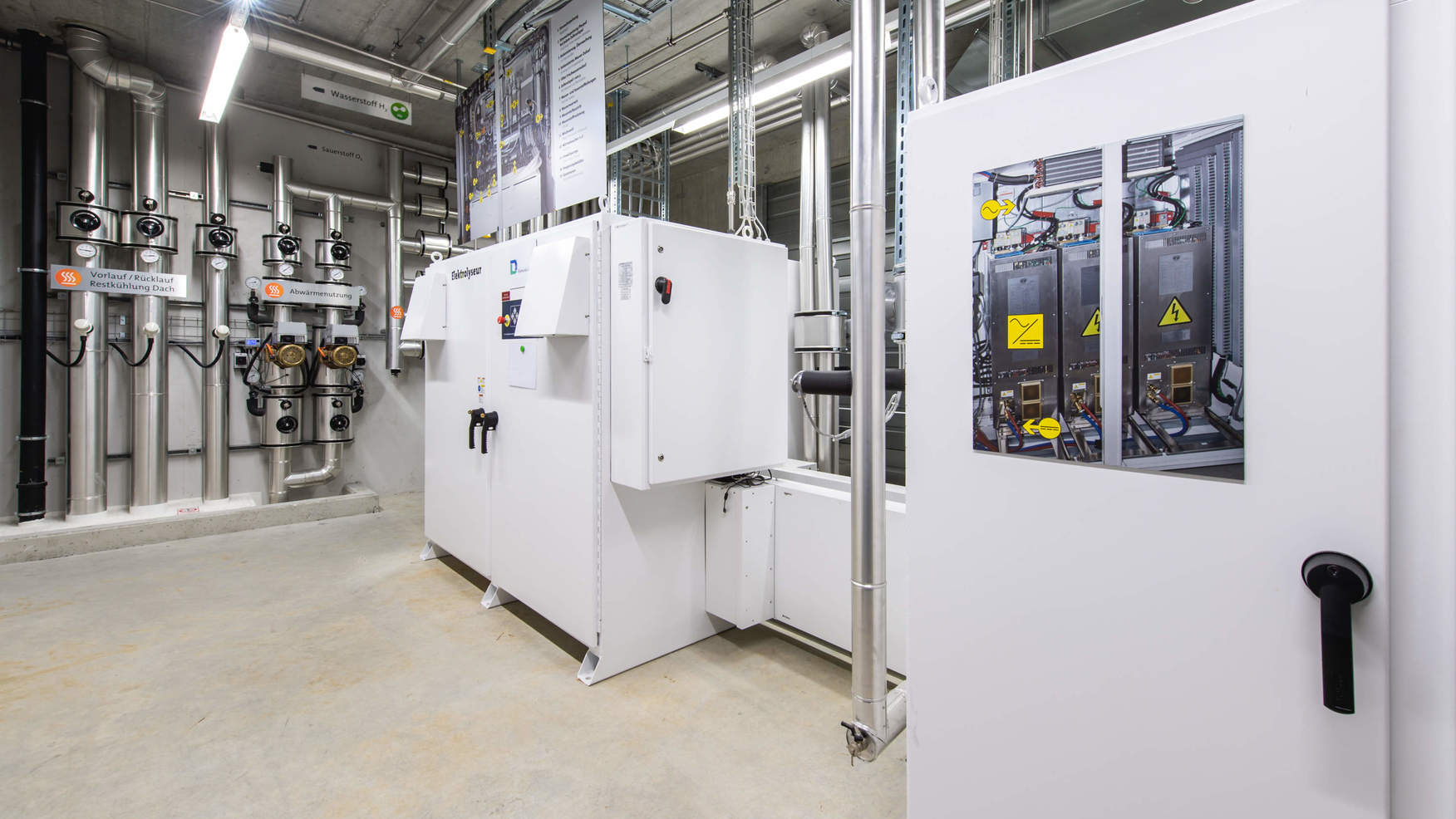 Elektrolyseur im Hybridwerk Aarmatt
