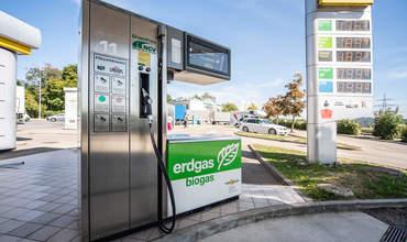 Biogas Erdgas Tanksäule