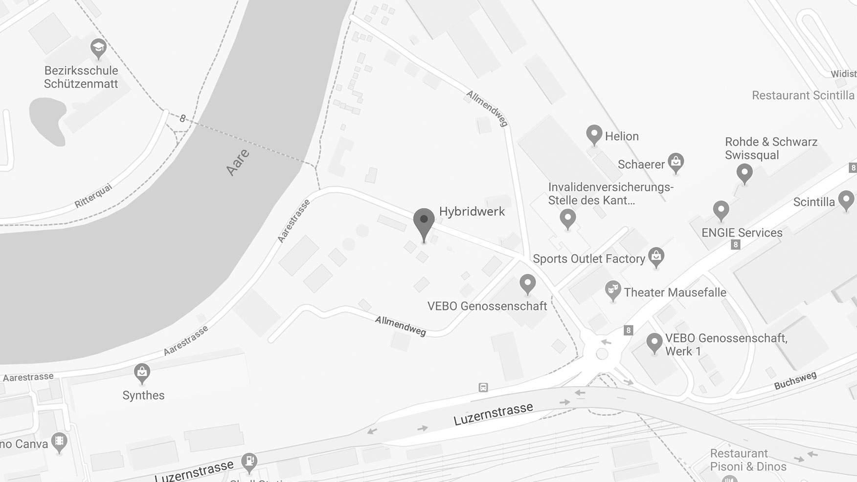 Google Maps Bild vom Hybridwerk Aarmatt