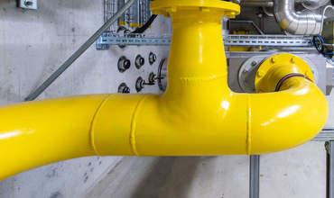 Gasleitung gelb