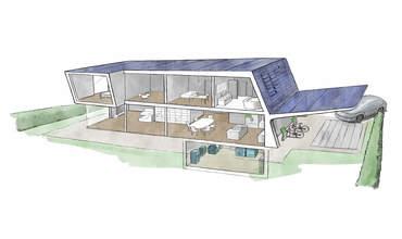 Zeichnung eines soclever Haus