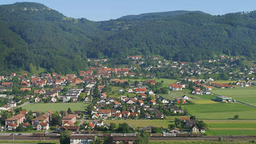 Foto eines Dorfes in der Region Solothurn